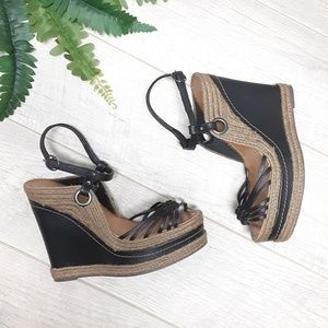Naughty Monkey espadrille platform wedges Size 9